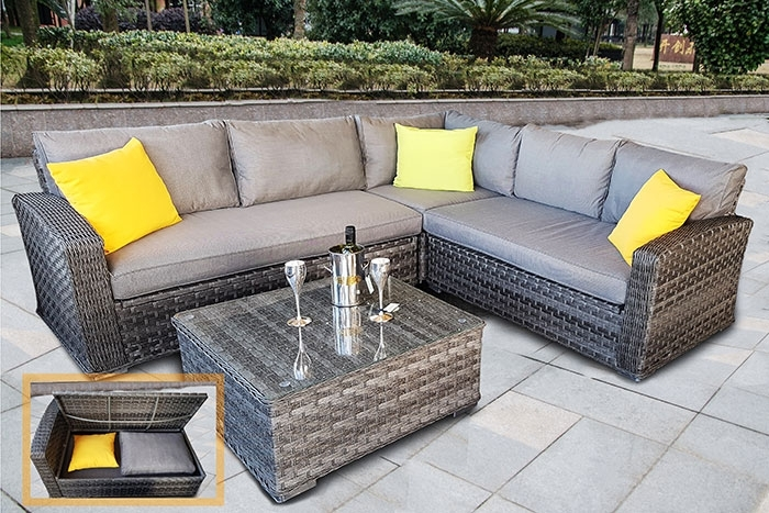 Rattan Garden Corner Sofa Set | Best Outdoor Rattan Corner ...
