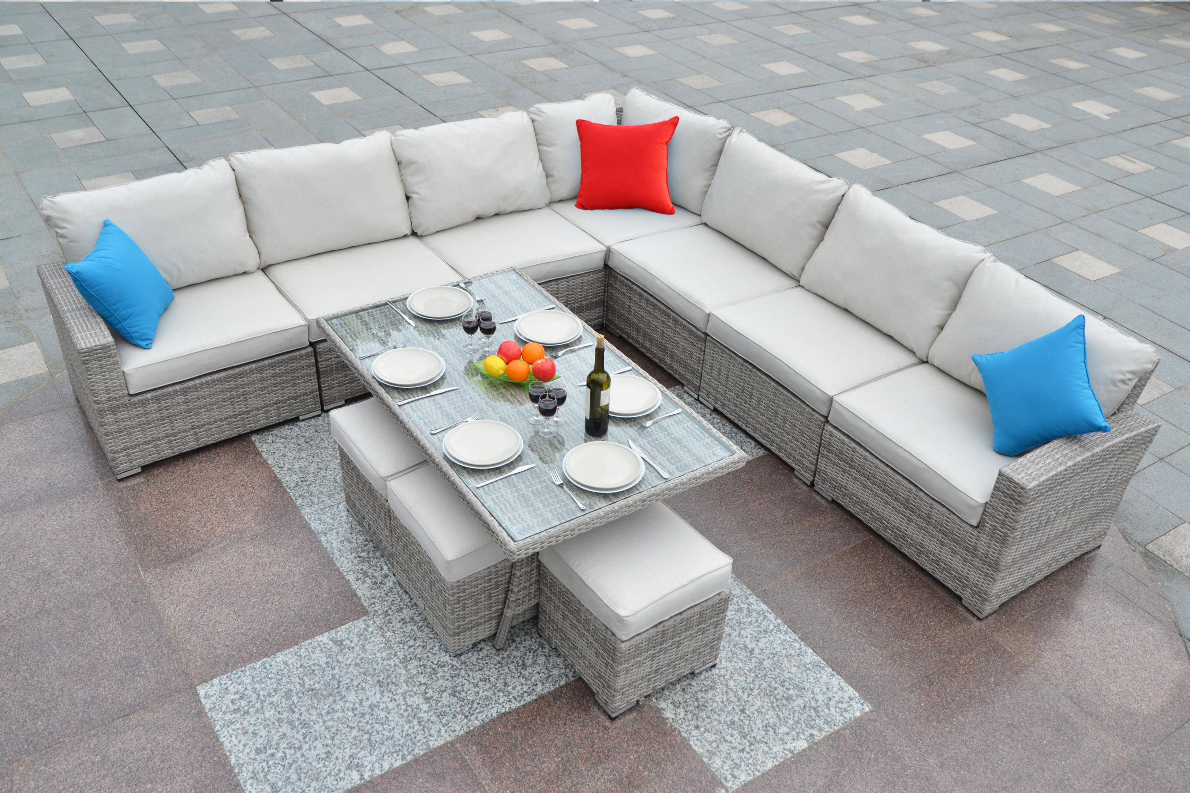 Rattan Garden Corner Sofa Set | Best Outdoor Rattan Corner ...