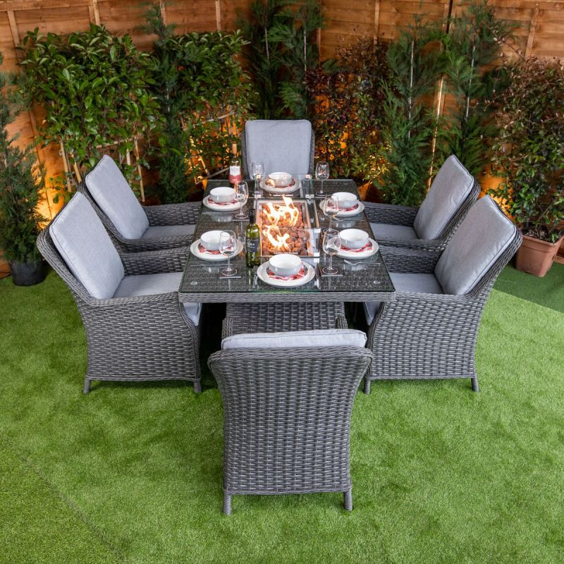 Add Smoke Free Fire Pit Dining Set To Your Beautiful Garden