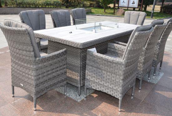 Rattan Garden Furniture Fire Pit Dining Sets   Best ...