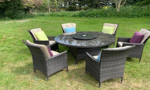 Brown Atlanta 6 seat 150cm dining set