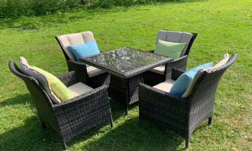 Brown Atlanta mini dining set