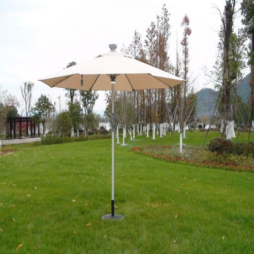 LED 3m Round Remote Controlled Parasol in Cream