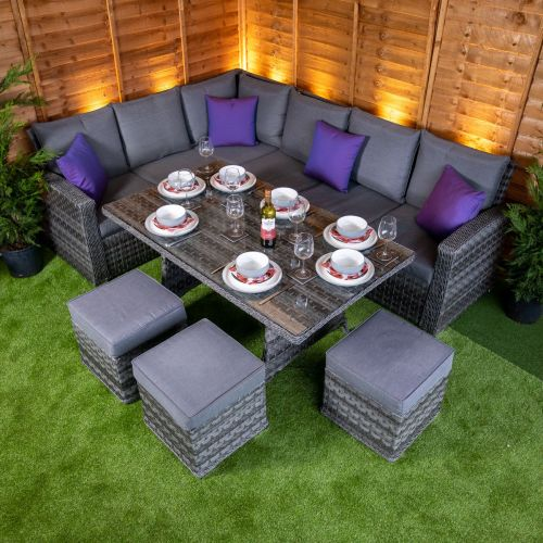 Serena Aston Deluxe Corner Dining Set  (Right)