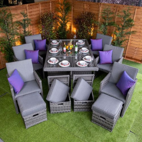 Serena 6 Seat Cube Set With 4 Storage Footstools