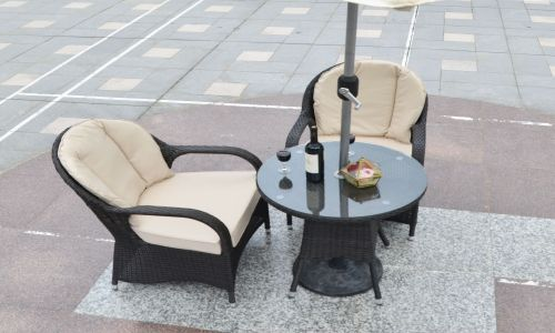 Brown Rattan Regal Round Bistro Set