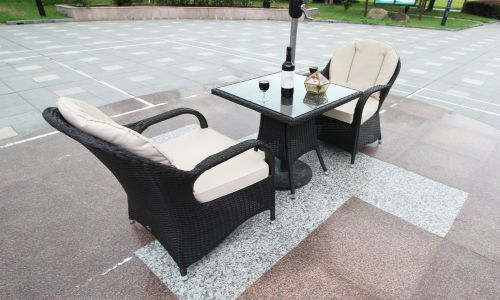 Brown Rattan Regal Square Bistro Set