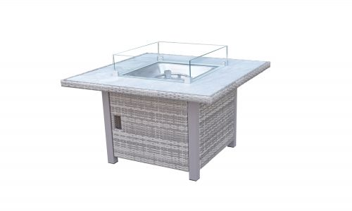 Champagne 4 Seat Gas Fire Pit Dining Table