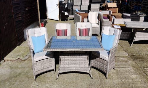 Champagne Royal 4 Seat Rectangular Dining Set