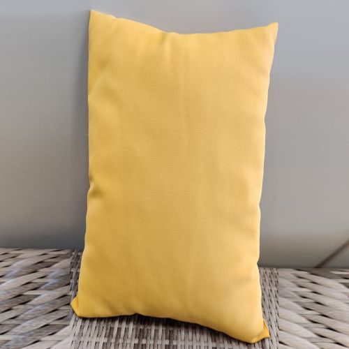 Sunbrella scatter cushions Color: Dark Yellow
