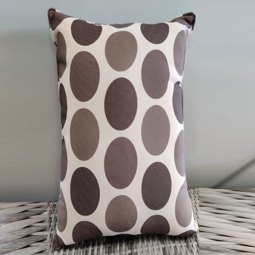 Sunbrella scatter cushions Coin Dot Pattern(white, gray, brown)