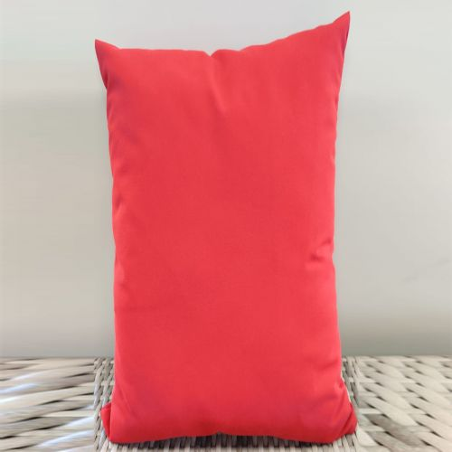 Sunbrella scatter cushions Color: Red