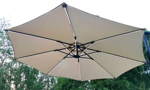Dalston 3m LED Strip Light Cantilever Parasol in Grey