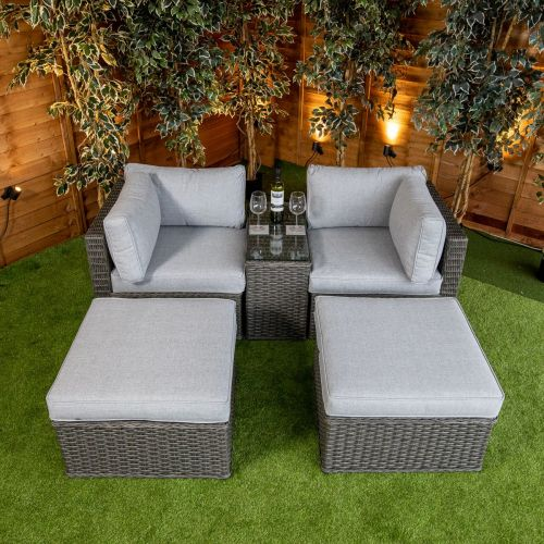 Platinum Lyon 5 Piece Lounge Set