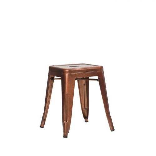 French Bistro Low Stool - Copper