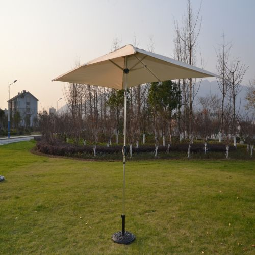 Perth 3m x 2m Rectangular Crank Parasol in Cream