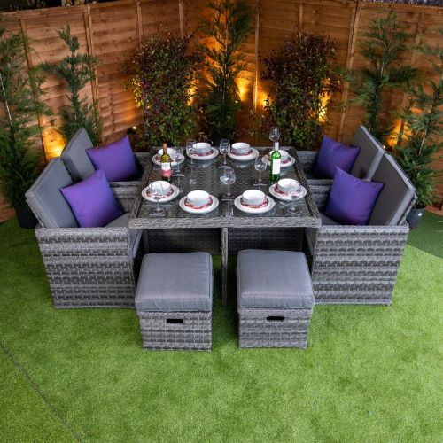 Serena 4 Seat Cube With 4 Storage Footstools