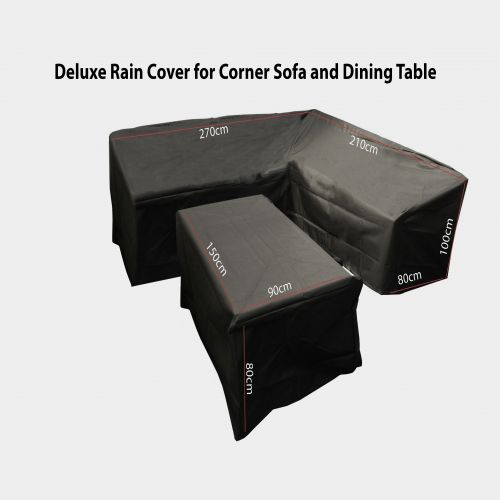 Deluxe Rain Cover for Rattan Corner Dining Set and Table