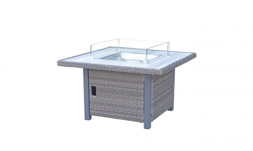 Serena 4 Seat Gas Fire Pit Dining Table