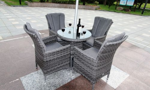 Serena Atlanta 4 Seater 70cm Mini Round Dining Set