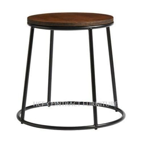 Spruce Low Stool - Jacobean Seat/Black