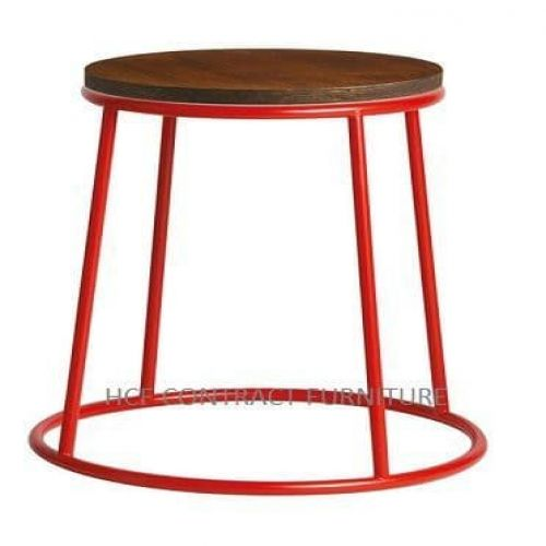 Spruce Low Stool - Jacobean Seat/Red