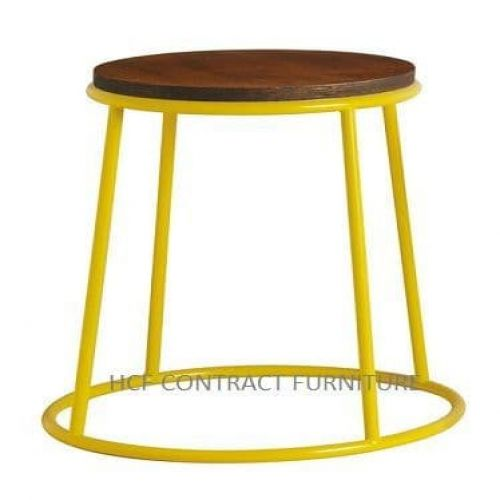 Spruce Low Stool - Jacobean Seat/Yellow