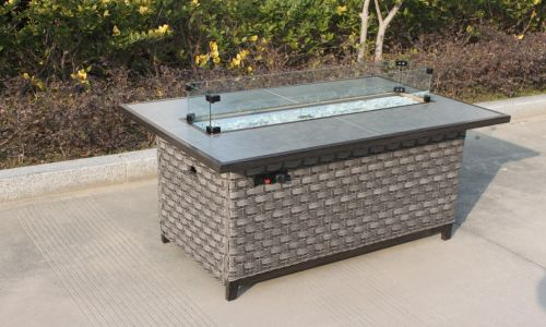 Serena Caesar Rectangular Gas Fire Pit Coffee Table